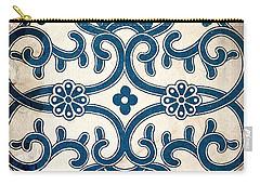 Blue Oriental Vintage Tile 02 Carry-all Pouch