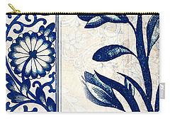 Blue Oriental Vintage Tile 03 Carry-all Pouch