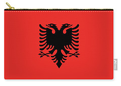Carry-all Pouch featuring the digital art Flag Of Albania Authentic Version by Bruce Stanfield