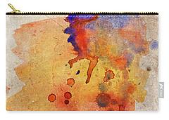 Orange Color Splash Carry-all Pouch