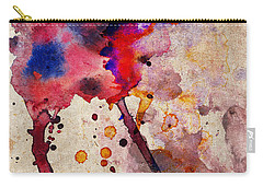 Red Color Splash Carry-all Pouch