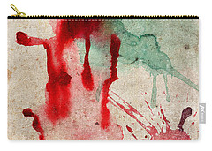 Green And Red Color Splash Carry-all Pouch