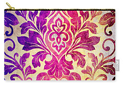 Purple Damask Pattern Carry-all Pouch