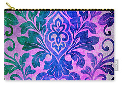 Blue Damask Pattern Carry-all Pouch
