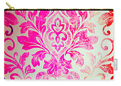 Pink Damask Pattern Carry-all Pouch