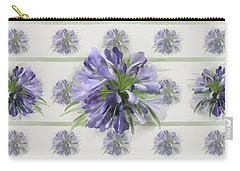 Carry-all Pouch featuring the painting Blue Purple Flowers by Ivana Westin