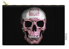 Carry-all Pouch featuring the digital art Polish Skull by Nicklas Gustafsson