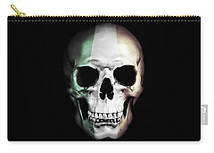 Carry-all Pouch featuring the digital art Irish Skull by Nicklas Gustafsson