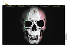 Carry-all Pouch featuring the digital art Mexican Skull by Nicklas Gustafsson
