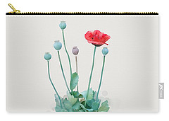 Carry-all Pouch featuring the painting Poppy by Ivana Westin