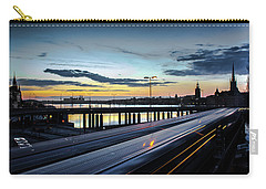 Carry-all Pouch featuring the photograph Stockholm Night - Slussen by Nicklas Gustafsson