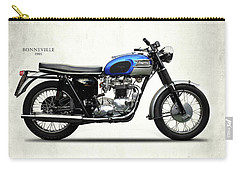 Triumph Bonneville T120 1965 Carry-all Pouch by Mark Rogan