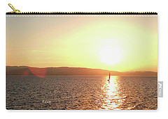 Carry-all Pouch featuring the photograph Solitary Sailboat by Felipe Adan Lerma
