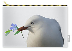 Carry-all Pouch featuring the painting Seagull by Ivana Westin