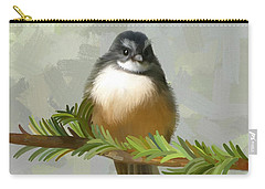 Carry-all Pouch featuring the painting Fantail  by Ivana Westin