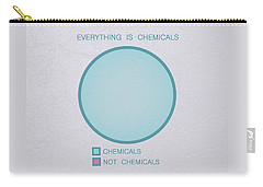 Carry-all Pouch featuring the digital art Everything Is Chemicals by Ivana Westin