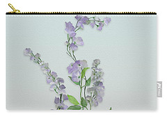 Purple Tiny Flowers Carry-all Pouch by Ivana Westin