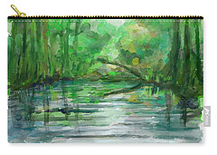 Carry-all Pouch featuring the painting Lost In Colors  by Ivana Westin