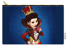Queen Of Hearts Portrait Carry-all Pouch