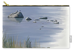 Carry-all Pouch featuring the painting Gull Siesta by Ivana Westin
