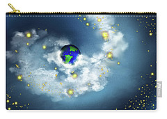 The World In His Hands Carry-all Pouch by Methune Hively
