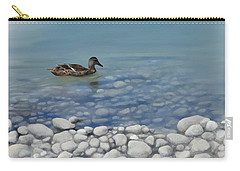 Carry-all Pouch featuring the painting Clear Water  by Ivana Westin