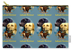 Labrador Retriever With Name Logo Carry-all Pouch