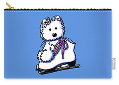 Westie Skater Girl Carry-all Pouch