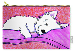 Sleepy Westie Girl Carry-all Pouch
