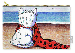Kiniart Beach Blanket Westie Carry-all Pouch