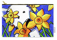 Kiniart Westie Daffodils Carry-all Pouch