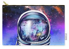 Astronaut World Map 9 Carry-all Pouch by Bekim Art