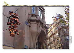 Carry-all Pouch featuring the photograph Angles And Details At Place Saint Andre Des Arts by Felipe Adan Lerma
