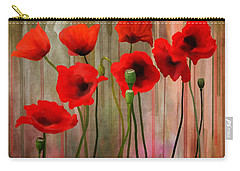Carry-all Pouch featuring the painting Poppies  by Ivana Westin