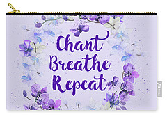 Carry-all Pouch featuring the painting Chant, Breathe, Repeat by Tammy Wetzel