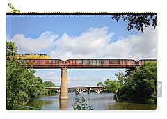 Carry-all Pouch featuring the photograph Train Across Lady Bird Lake by Felipe Adan Lerma