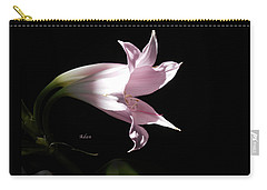 Carry-all Pouch featuring the photograph Lovely Lilies Bird In Flight by Felipe Adan Lerma