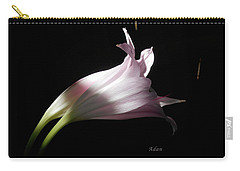 Carry-all Pouch featuring the photograph Lovely Lilies Couple Embraced by Felipe Adan Lerma