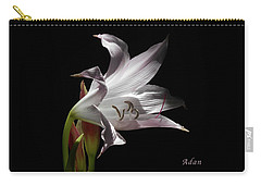 Carry-all Pouch featuring the photograph Lovely Lilies Curling Grace by Felipe Adan Lerma