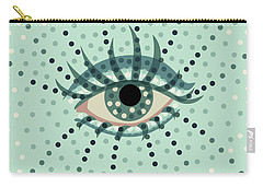 Beautiful Abstract Dotted Blue Eye Carry-all Pouch