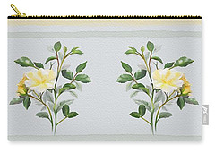 Carry-all Pouch featuring the painting Yellow Watercolor Rose by Ivana Westin