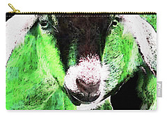 Goat Pop Art - Green - Sharon Cummings Carry-all Pouch by Sharon Cummings