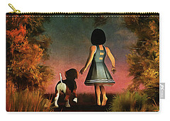 Romantic Walk In The Woods Carry-all Pouch