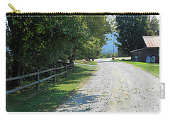 Trapp Family Lodge Rustic Road Carry-all Pouch by Felipe Adan Lerma