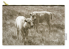 Carry-all Pouch featuring the photograph Pair Of Baby Buffalos by Rebecca Margraf