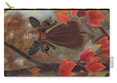 Carry-all Pouch featuring the painting Rhiona In The Maple Tree by Nancy Lee Moran