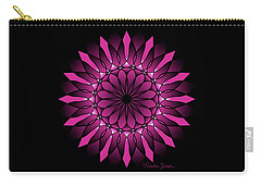 Ombre Pink Flower Mandala Carry-all Pouch