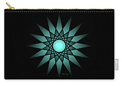 Turquoise Ombre Deep Gaze Mandala Carry-all Pouch
