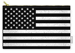 Carry-all Pouch featuring the digital art Usa Flag Hidef Super Grunge Patina by Bruce Stanfield