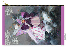 Carry-all Pouch featuring the painting First Snow by Nancy Lee Moran